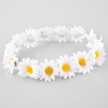 Full Tilt Daisy Flower Crown White One Size For Women 25806215001