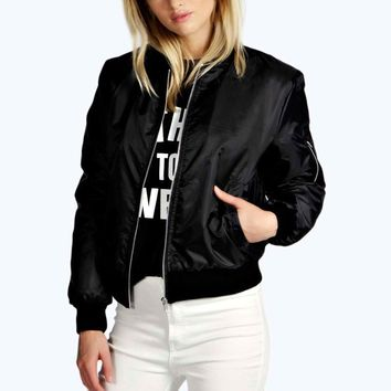 Women Thin Jacket Bomber Long Sleeve Coat Casual