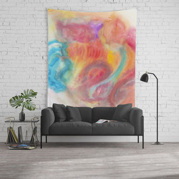 Improvisation 57 Wall Tapestry by ViviGonzalezArt
