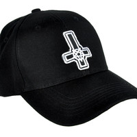 Inverted Cross Pentagram Hat Baseball Cap Occult Metal Clothing