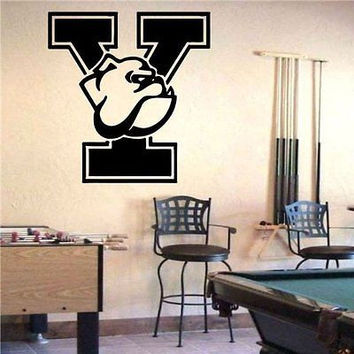 Yale Bulldogs NCAA Logo Emblem Wall Art Sticker Decal (S1089)