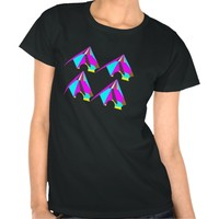 """Pyramids of loop"" EDM unique design T-shirts"