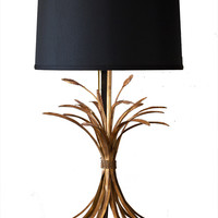 Dessau Home Antique Gold Wheat Lamp W/Black Shade  - Lhc900/2