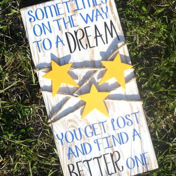 Better Dream Sign - Make a Dream - Wish Upon a Star - Country Stars - Primitive Star - Rustic Decor - Home Decor