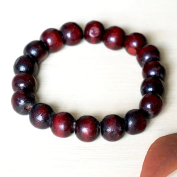 Red Wood Zen Bracelet