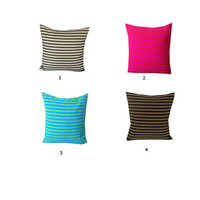 Unique Handmade Gifts, Decorative Stripes Pillows, House warming gifts, Cotton Stripes Couch Pillows, Home Decor