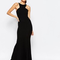 Club L | Club L Racer Front Maxi Dress In Crepe at ASOS
