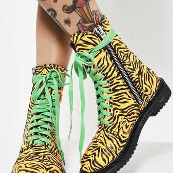 Eye Of The Tiger Combat Boots