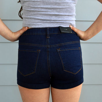 Rolled High Waisted Shorts
