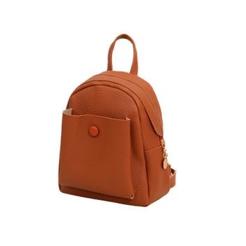 Casual Backpack Women Mini New Backpacks Fashion Artificial Leather Shoulder Bag Solid Women Travel School Bags Rucksack Mochila