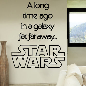 Wall Decals Quote A Long Time Vinyl Sticker Star Wars Home Decor Nursery SM50
