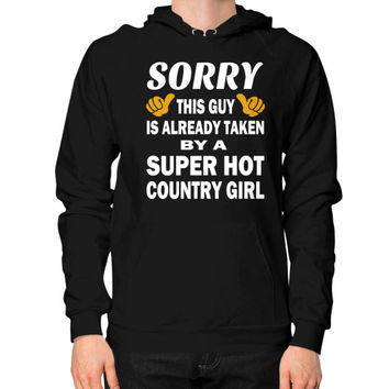 Taken by a super hot country girl Hoodie (on man)