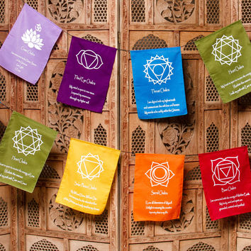 7 Chakra Prayer Flags