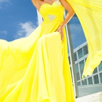 TB Evenings by Mon Cheri - TBE11207 Dress In Yellow