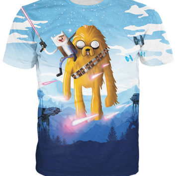 Smuggling Time T-Shirt Adventure Time Star Wars Finn Han Solo Jake the Dog beloved Wookie Chewbacca t shirt tees for women men