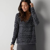 DON'T ASK WHY MARLED V-NECK SWEATER
