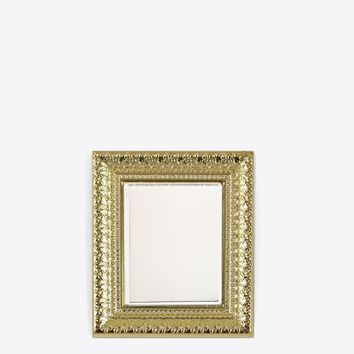 GOLD FRAME MIRROR LAPEL PIN