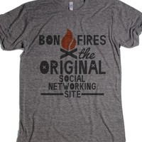 Bonfires - Original Social Network-Unisex Athletic Grey T-Shirt