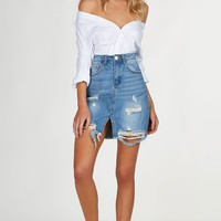 Stress Free Denim Skirt