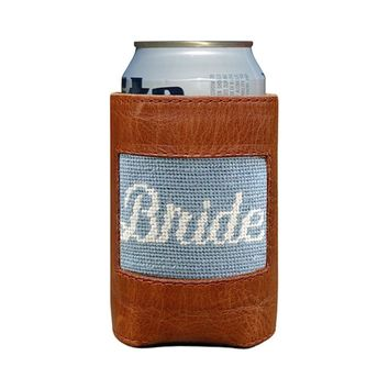 Bride Needlepoint Can Cooler by Smathers & Branson