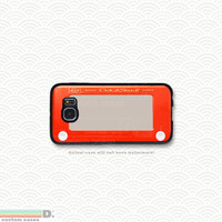 Retro Etch-a-Sketch , 2 Variations, Custom Phone Case for Galaxy S4, S5, S6