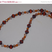 ON SALE Brown Picasso Necklace