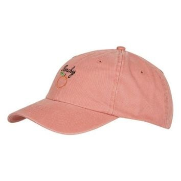 Topshop Peachy Embroidered Ball Cap | Nordstrom