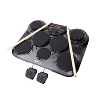 Pyle Electronic Table Digital Drum Kit Top w- 7 Pad Digital Drum Kit