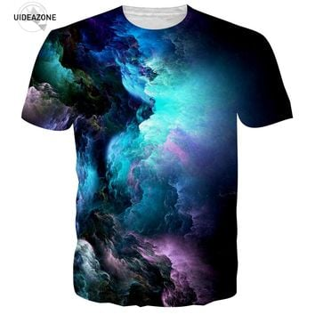 Men Brand T-shirt 3D Cloud Pattern Tops Summer Tee Shirt Homme Casual Male Clothing Camiseta Hip Hop Graphic T Shirt Dropship