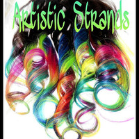 Colored Ombre Hair Extensions / 20 Inches Long - Clip In Extensions/ 2-two inch wide clip in extensions/ Neon Rainbow