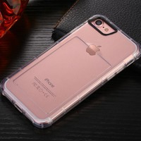 With card slot tpu transparent creative protective sleeve wrestling soft case for iphone X 8 8Plus 7 7Plus 6s 6sPlus 6 6Plus