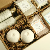 Pampering Bath Gift Set -  Bath Gift Set,  Spa Gift Set, Bath Set, Soap Gift Set, Christmas Gift
