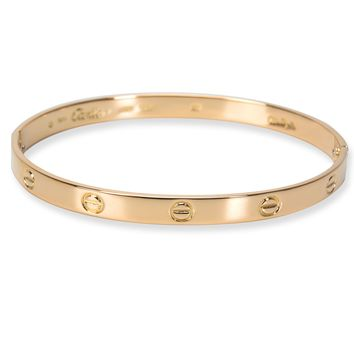 Vintage Cartier Love Bangle in 18KT Yellow Gold