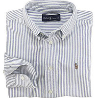 Ralph Lauren Childrenswear 2T-7 Striped Oxford Shirt - Oxford Blue