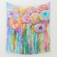Colorful Flowers Abstract by Lena Owens/OLenaArt