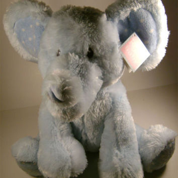 "13"" Blue Large Elliefumps Elephant Russ Baby Boy Toy Soft Plush Baby Shower Gift"