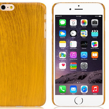 Light Wood Grain Plastic Case for iPhone 6\6s