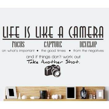 Life Is Like A Camera Wall Decal