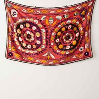 One-Of-A-Kind Suzani Tapestry - Red One