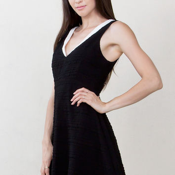 Sugar Lips Double Standards Sleeveless Fit and Flare Dress