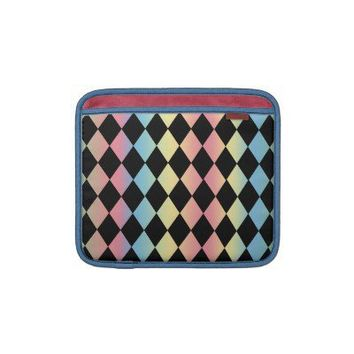 Harlequin Pattern-with Pastel Background Sleeve For Ipads from Zazzle.com