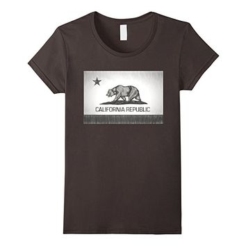 California Republic Pencil Sketch Flag T-Shirt