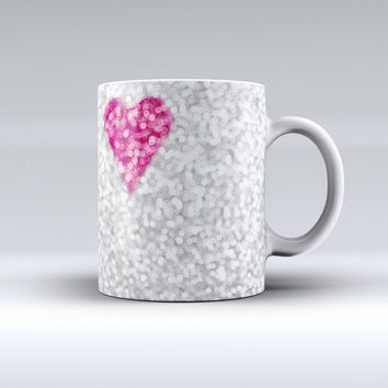 The Unfocused Heart Glimmer ink-Fuzed Ceramic Coffee Mug