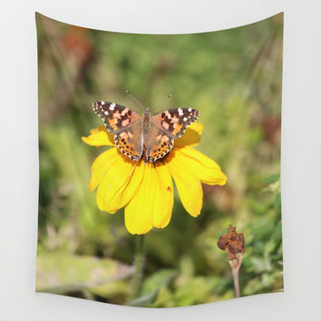 Autumn Butterfly Colors Wall Tapestry by Theresa Campbell D'August Art