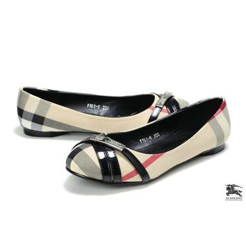 Burberry Women Fashion Low-heeled Shoes