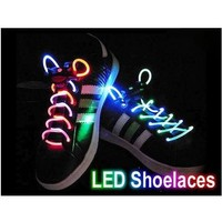 SODIAL(TM) Led Light Up Flashing Glowing Shoelaces - Multi-Color LED Shoe Laces flash Lighting the Night For party Hip-hop Dancing