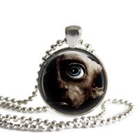 Dobby Silver Plated Pendant Necklace Handmade Harry Potter Jewelry