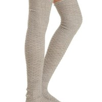Nubby Dotted Over-the-Knee Socks by Charlotte Russe