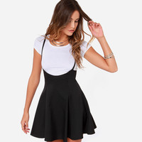 Black and White Short Sleeve Skater Mini Dress