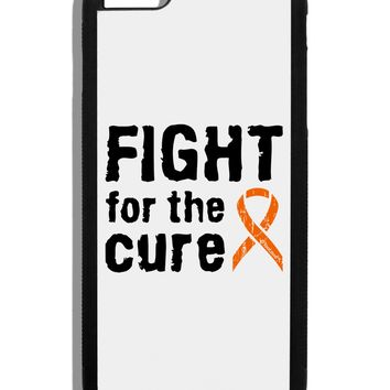 Fight for the Cure - Orange Ribbon Leukemia Black Dauphin iPhone 6 Plus Cover by TooLoud